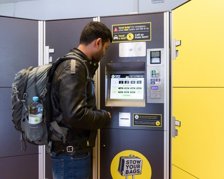 Automatic lockers at Rome Train Station