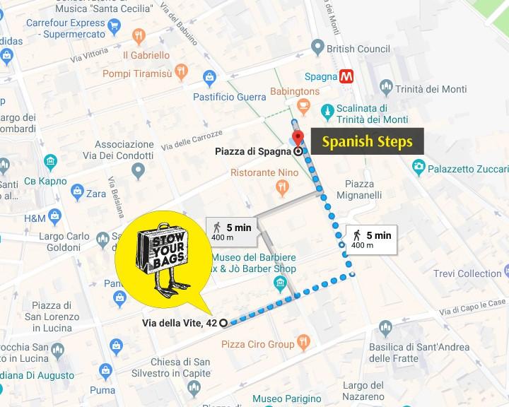 Rome Subway Map To Trevi Fountain Spanish Steps.Luggage Storage Trevi Fountain Spanish Steps Rome Piazza Di
